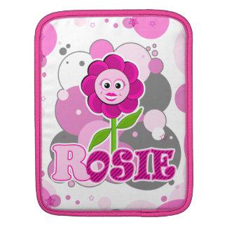 The Little Bloomers - Rosie Red - Magenta Flower iPad Sleeve