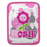 The Little Bloomers - Rosie Red - Magenta Flower iPad Sleeve