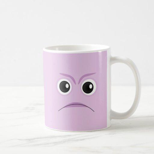 The Little Bloomers - Sad Face Purple Classic White Coffee Mug