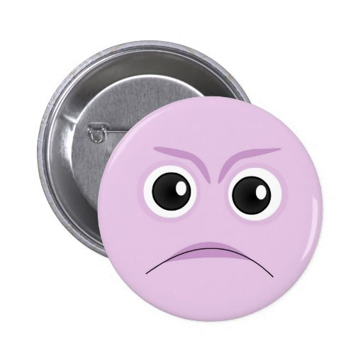 The Little Bloomers - Sad Face Purple Pin
