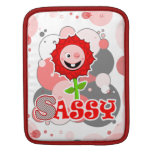The Little Bloomers - Sassy Sadi - Red Flower Sleeve For iPads