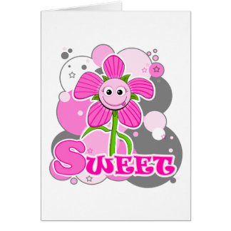 The Little Bloomers - Sweet Selina - Pink Flower Card