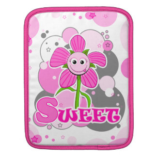 The Little Bloomers - Sweet Selina - Pink Flower iPad Sleeve