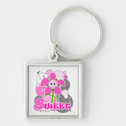 The Little Bloomers - Sweet Selina - Pink Flower Keychains