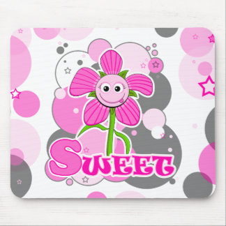 The Little Bloomers - Sweet Selina - Pink Flower Mouse Pad