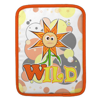 The Little Bloomers - Wild Wally - Orange Flower Sleeves For iPads