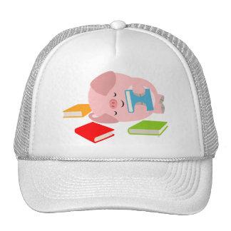 The Little Book Lover (Cartoon Pig) Hat