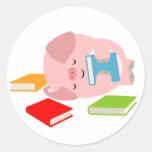 The Little Book Lover (Cute Cartoon Pig) Sticker