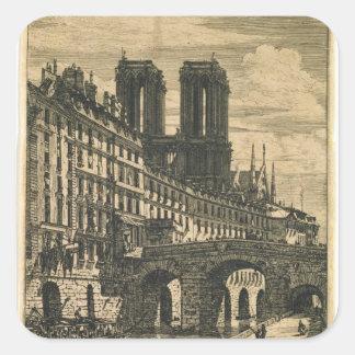 The Little Bridge, 1850 Square Sticker