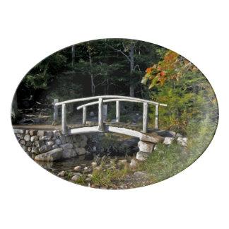 The Little Bridge Porcelain Serving Platter