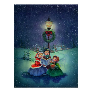 THE LITTLE CAROLERS by SHARON SHARPE Poster