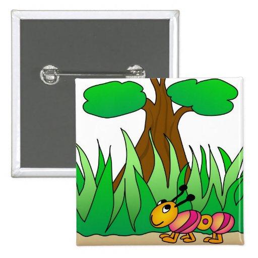 The Little Caterpillar Pinback Button