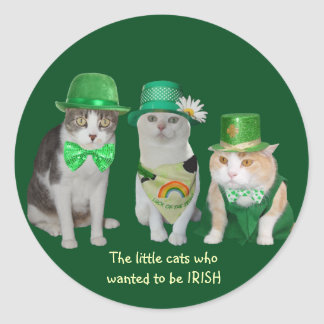 The Little Cats Who Wanted to be IRISH Stickers