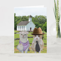 The Little Cats Who Wanted to go to Church Easter Holiday Card