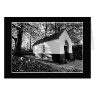The little chapel, black and white photo card