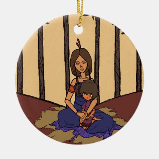 The Little Dreamer Animation 1  - Mother & Child Ceramic Ornament