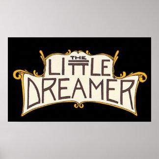 The Little Dreamer Black Logo Poster