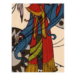 The Little Dreamer - Gypsy Fortune Teller Postcard