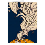 The Little Dreamer - White Flames Greeting Cards