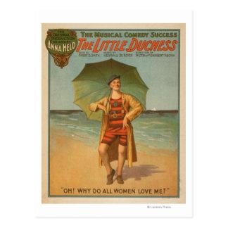 """The Little Duchess"" Man on Beach Musical Postcard"