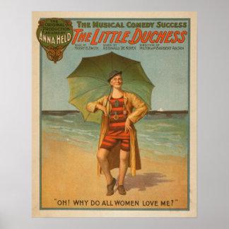 """""""The Little Duchess"""" Man on Beach Musical Poster"""