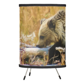 The Little Explorer Grizzly Bear Cub Tripod Lamp