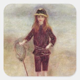 The Little Fisherwoman  1879 Square Sticker