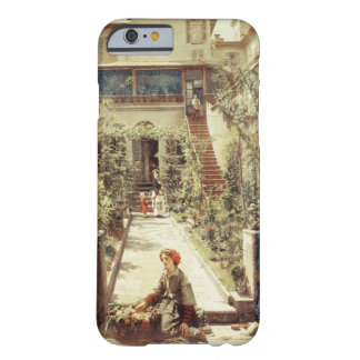 The Little Flower Girl (oil on canvas) iPhone 6 Case