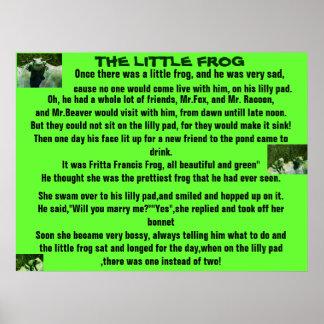 THE LITTLE FROG ,POEM poster