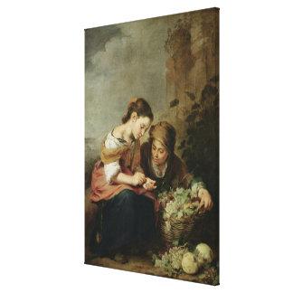 The Little Fruit-Seller, 1670-75 Canvas Print