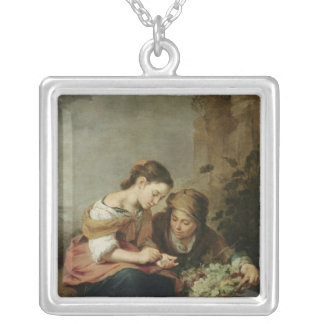 The Little Fruit-Seller, 1670-75 Silver Plated Necklace