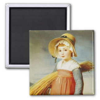 The Little Gleaner, 1824 2 Inch Square Magnet