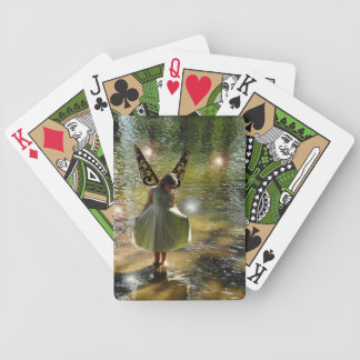 The Little Green Fairy Fantasy Fan Playing Cards