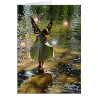 The Little Green Fairy Greeting Card
