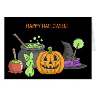 The Little Green Halloween Bunny Card