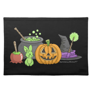 The Little Green Halloween Bunny Placemat