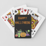 """The Little Green Halloween Bunny Playing Cards<br><div class=""""desc"""">A little bunny stumbled into a witches cauldron this Halloween night,  and came out bright green!</div>"""