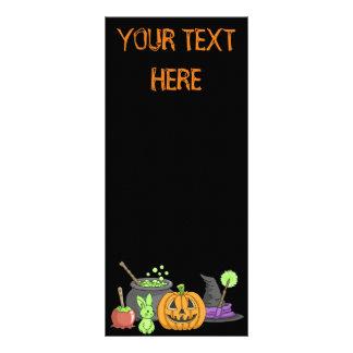 The Little Green Halloween Bunny Rack Card Design