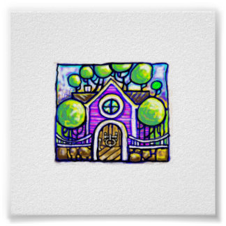 the little house print