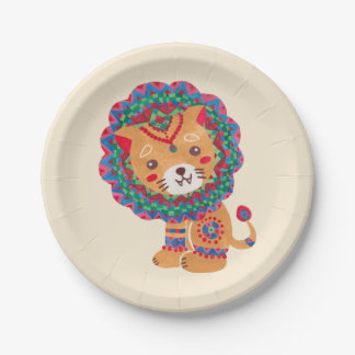 The Little King of the Jungle Paper Plate