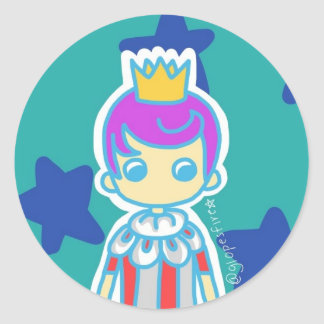 The Little King Classic Round Sticker