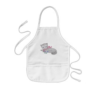 The Little Kitten Kids' Apron
