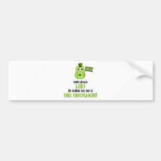 The Little Lad Big Brother Bumper Sticker
