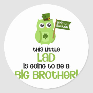 The Little Lad Big Brother Classic Round Sticker