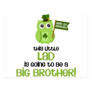 The Little Lad Big Brother Postcard