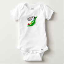 The Little Man Train Personalized Baby Onesie