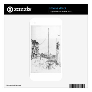 The Little Mast by James McNeill Whistler Skins For iPhone 4