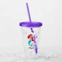 The Little Mermaid | Adventurous - Add Your Name Acrylic Tumbler