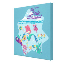 The Little Mermaid & Friends Canvas Print