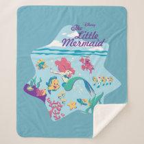 The Little Mermaid & Friends Sherpa Blanket